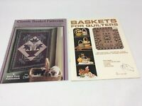 Lot Of 2 Quilting Books Baskets for Quilters Boyink & Classic Basket Patterns