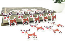 25pcs Christmas deer Wooden Buttons decoration Christmas Handicrafts Sewing 35mm