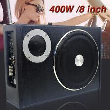 Upgrade 8'' 400W Car Subwooferand AMP Amplifier Audio Speaker Enclosed