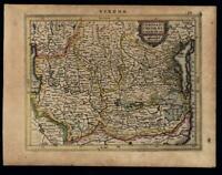 Verona Patavia Venice Venezia Italy Italia 1628 Mercator miniature map