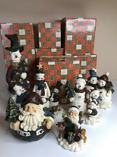 herco gift professional figurines snowman Lot Of 6