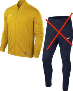 Nike Kids Training Jacket Academy 16 Youth Knit, Yellow Size S 128-137 8-10Jahre