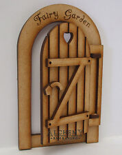 Opening Fairy Door - Fully Opening Rustic Fairy Garden Gate 3D Wooden Craft Kit