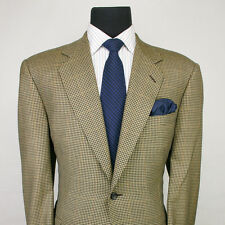 $1795+ CANALI Exclusive Collection 100% Cashmere Tan Check Sport Coat Jacket 46