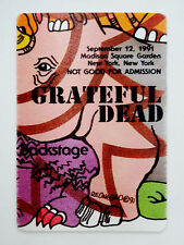 Grateful Dead Backstage Pass Puzzle Piece Animals Of The Rainforest NY 9/12/1991