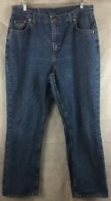 """Riders Boot Cut Blue Denim Jeans Size 18 M USA Made Inseam 30"""" Womans"""