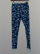 38233d7a344cd3 Lularoe Leggings *RARE Unicorn* Halloween SKULL Sugar Skulls DEAD Head Blue  OS