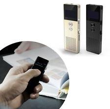 REGISTRATORE VOCALE ALTA QUALITA 8 GB 32 ORE LETTORE MP3 RADIO FM CUFFIE RP1