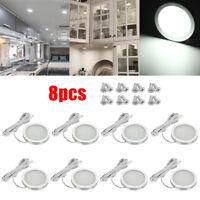 8pcs 12V Interior LED Spot Lights Lamp White For Caravan Home Kitchen