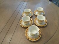 Vintage Empress by Haruta Japan Demitasse/Tea Cup & Saucer Lusterware 10 pc set