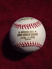 RAWLINGS 2002 OFFICIAL WORLD SERIES BASEBALL LA Angels vs SF Giants