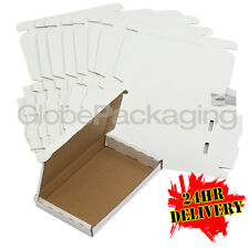 100 x WHITE PIP LARGE LETTER CARDBOARD POSTAL MAIL BOXES 160x110x20mm PHONES ETC