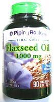 1000mg Flaxseed Oil 90 Softgels Omega 3 6 9 Capsules Flax Seed Pills