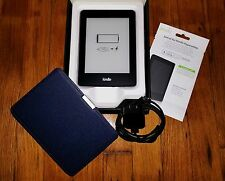 Amazon Kindle Paperwhite 6in WiFi E-reader DP75SDi Power Adapter Case Bundle Lot