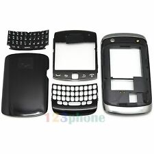 FULL HOUSING COVER + FRAME + KEYPAD FOR BLACKBERRY CURVE 9360 #H272_ BLACK