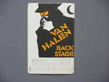 Van Halen satin backstage pass Authentic Spy Pass Checkerdome, St. Louis !