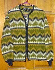 Original Vintage Earle Picard Zip Up Mohair Wool Women's Small Coat Lightweight