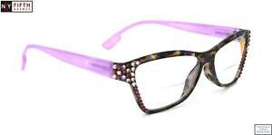 Avian, Bifocal Bling Reading Glasses for Women Adorned w European Crystals