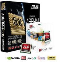 AMD A4 6300 CPU ASUS A68HM PLUS MOTHERBOARD HDMI GAMING UPGRADE BUNDLE