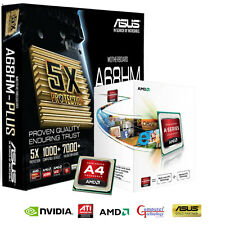 AMD A4 6300 CPU ASUS A68HM PLUS MOTHERBOARD HDMI GAMING UPGRADE BUNDLE