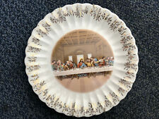 Sanders Lord's Last Supper Jesus 24K Gold Christian Collector's Plate 9.5""