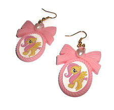 Fluttershy Cameo Earrings, Pastel Pink My Little Pony Jewellery MLP FIM