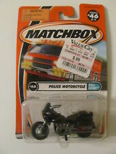 Matchbox - Police Motorcycle (Pull Over!) - #46 - Sealed - Light Wear