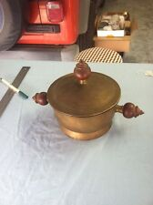 Vintage Brass Pot With Lid