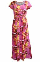 NEW Tommy & Kate Red Yellow Pink Floral Summer Long Maxi Beach Dress Size 12-22