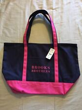Brooks Brothers Pink And Black Tote