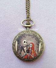 Collana orologio Jack Skeletron Sally NIGHTMARE BEFORE CHRISTMAS love halloween
