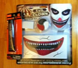 Evil Clown Makeup Kit +Free Fake blood