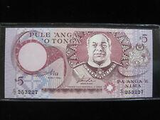 TONGA 5 PA'ANGA 1995 P33 ISLAND UNC 80E# BANK CURRENCY BANKNOTE PAPER MONEY