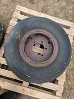 JCB 3C FRONT WHEEL RIM WITH GOOD YEAR TYRE A BIT PERISHED BUT STAYS UP