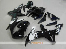 ABS Fairing fit for YAMAHA R1 2002 2003 02 03 Black White Race V
