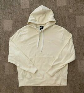 Men's XL Nike Sportswear Classic Fleece Pullover Hoodie Sweatshirt Cream DA0023