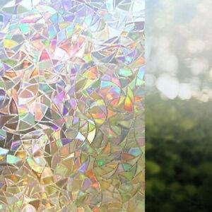 Arcobaleno 3D Pellicola Finestra Decorativo Privacy Statica Adesivo per Vetro