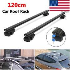 "48"" Aluminum Auto Car Top Roof Rack Cross Bar Carrier Adjustable Lock & Keys"