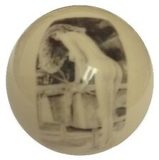 Pool/Billiards Pin-up Leaning over Table Unique Collectable Custom Cue Ball
