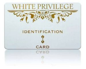 white privilege id card funny gag gift