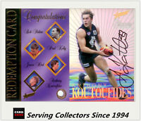 1996 Select AFL Card Series 1 Signature Redemption Card SC3 Anthony Koutoufides