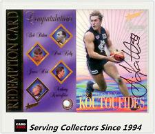 1996 Select AFL Card Series 1 Signature Redemption Card SC3 Anthony Koutoufides