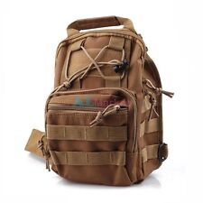 Coyote Tan 1000D Molle Tactical Utility 3 Ways Shoulder Bag Pouch Backpack