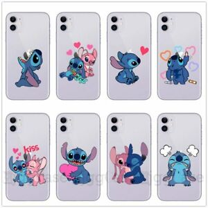 For Apple iPhone 11 Pro Max XS 8 Blue Stitch Cute Cartoon Case Cover Soft Cover