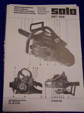 Original Bedienungsanleitung Solo 647 und 654  - Rarität