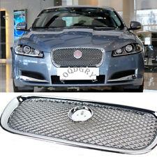 1pcs ABS Chrome Bumper Grille Front Chrome Grill For Jaguar XF XFR 2012-2015