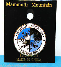 MAMMOTH MOUNTAINSKI PIN BADGE/SKIING/SKIER - BLUE/BLACK SNOWFLAKE - CALIFORNIA