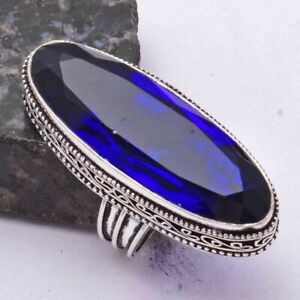Tanzanite Ethnic Handmade Antique Design Ring Jewelry US Size-7.25 AR 40999