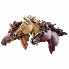 3 Horse Heads  Intricate Details Wall Plaque Decorative Country.FREE SHIPPING