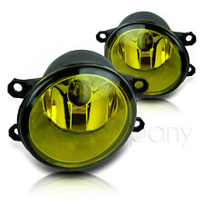 Fit 16 Scion iM 17-18 Toyota Corolla iM Replacement Fog Light Lamps - Yellow